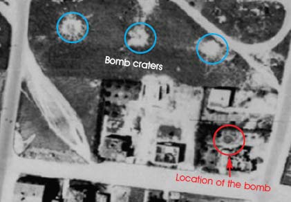 map of buried bomb