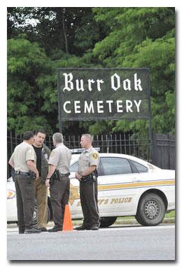Police investigate Burr Oak Cemetery