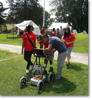 ground penetrating radar restores history